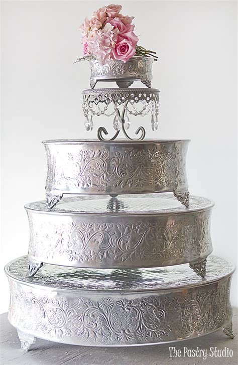 ORNATE SILVER CAKE STANDS ? ASSORTED   The Pastry Studio