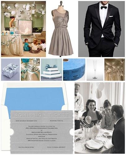 Silver Wedding Anniversary Gowns: FineStationery.com: 25th Wedding Anniversary On