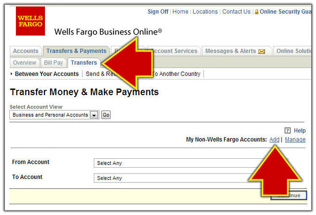 Add Non-Wells Fargo Account