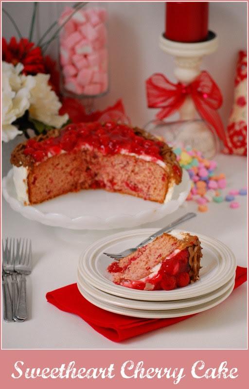 Sweetheart Cherry Cake