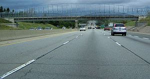 English: Highway 401 in Kitchener, looking eas...