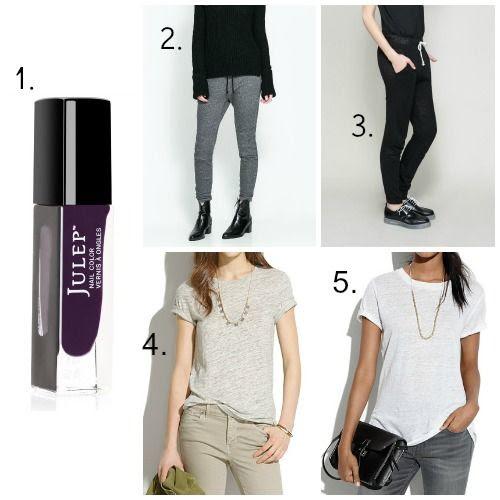 Julep Nail Polish - Zara Sweatpants - Madewell Linen Tee Shirts