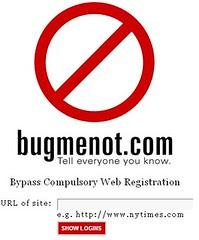 BugMeNot.com dont register ever!