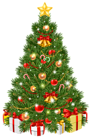 Decorated Christmas Tree Transparent PNG Clip Art Image