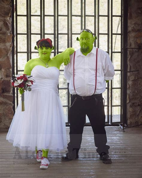 Princess Fiona and Shrek wedding!   absolute garbage in