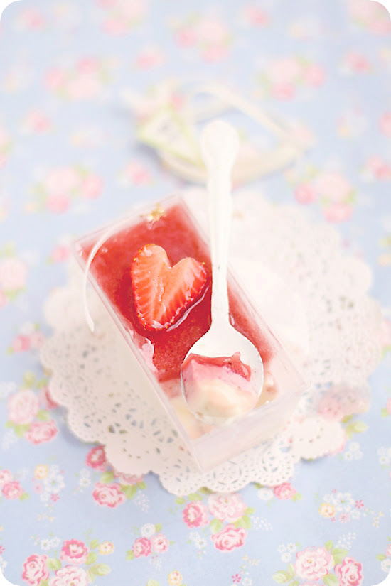 Strawberry Yogurt Panna Cotta