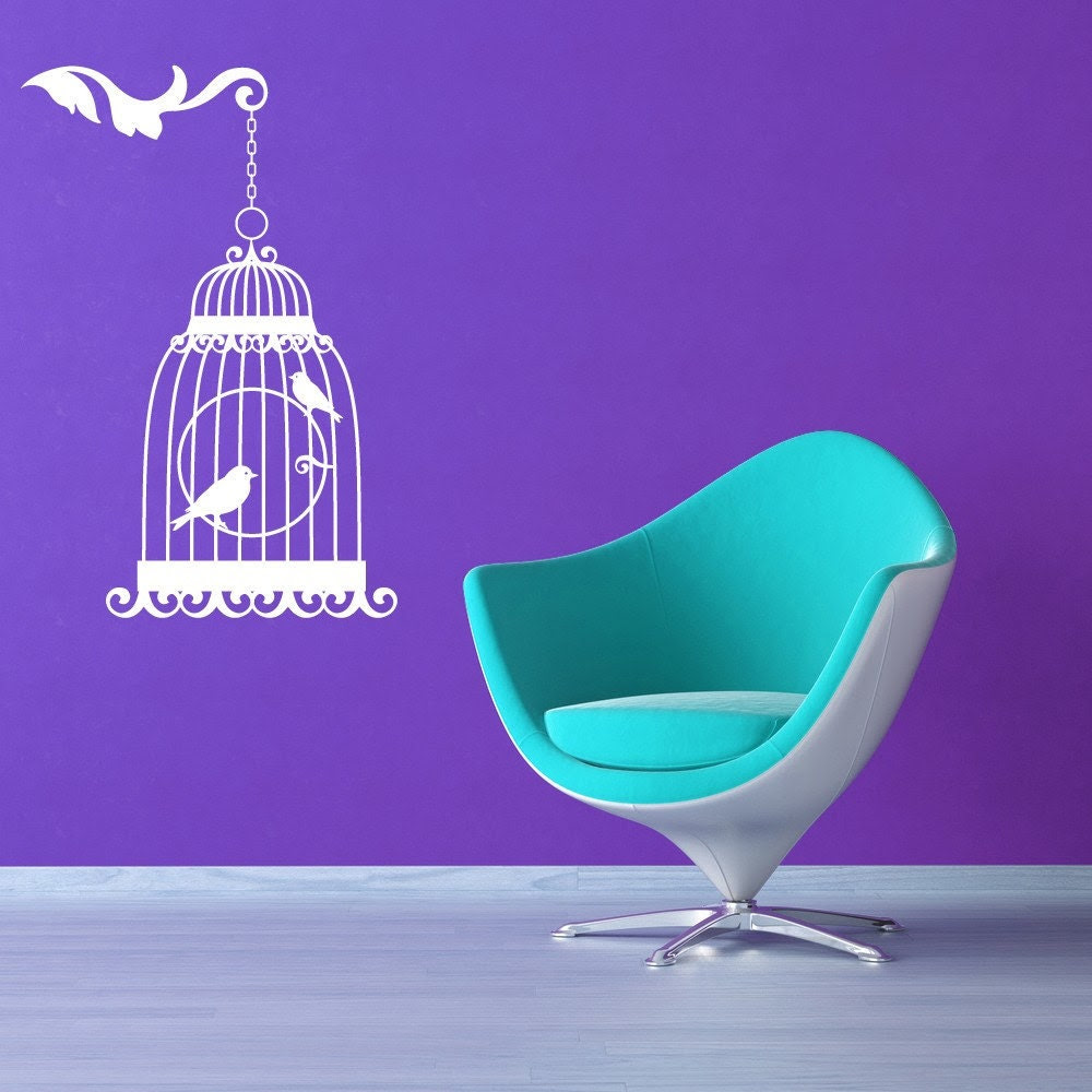 Victorian Bird House - Vinyl Wall Art Decal