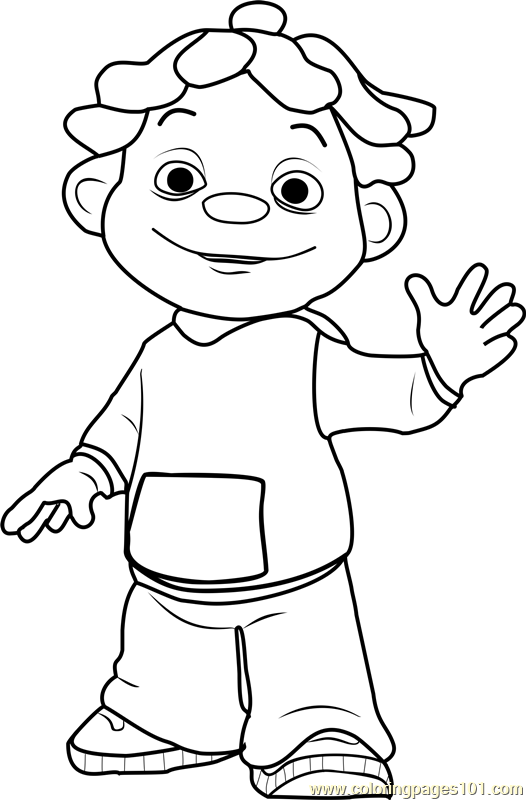 Sid Coloring Page - Free Sid the Science Kid Coloring ...