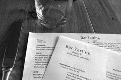 Bar Tartine - Menu