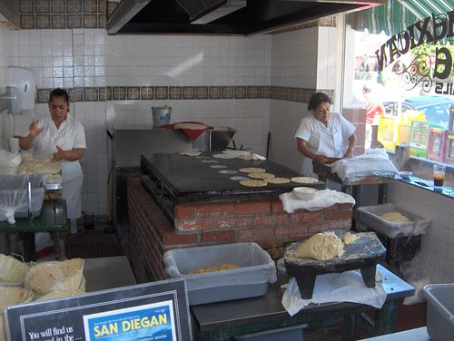 Tortillas made fresh right in front of you!