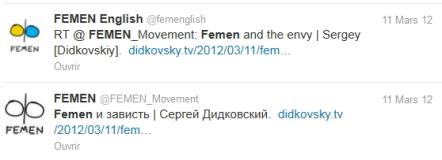 Texto racista cuentas Didkovsky Twitter liberados por FEMEN