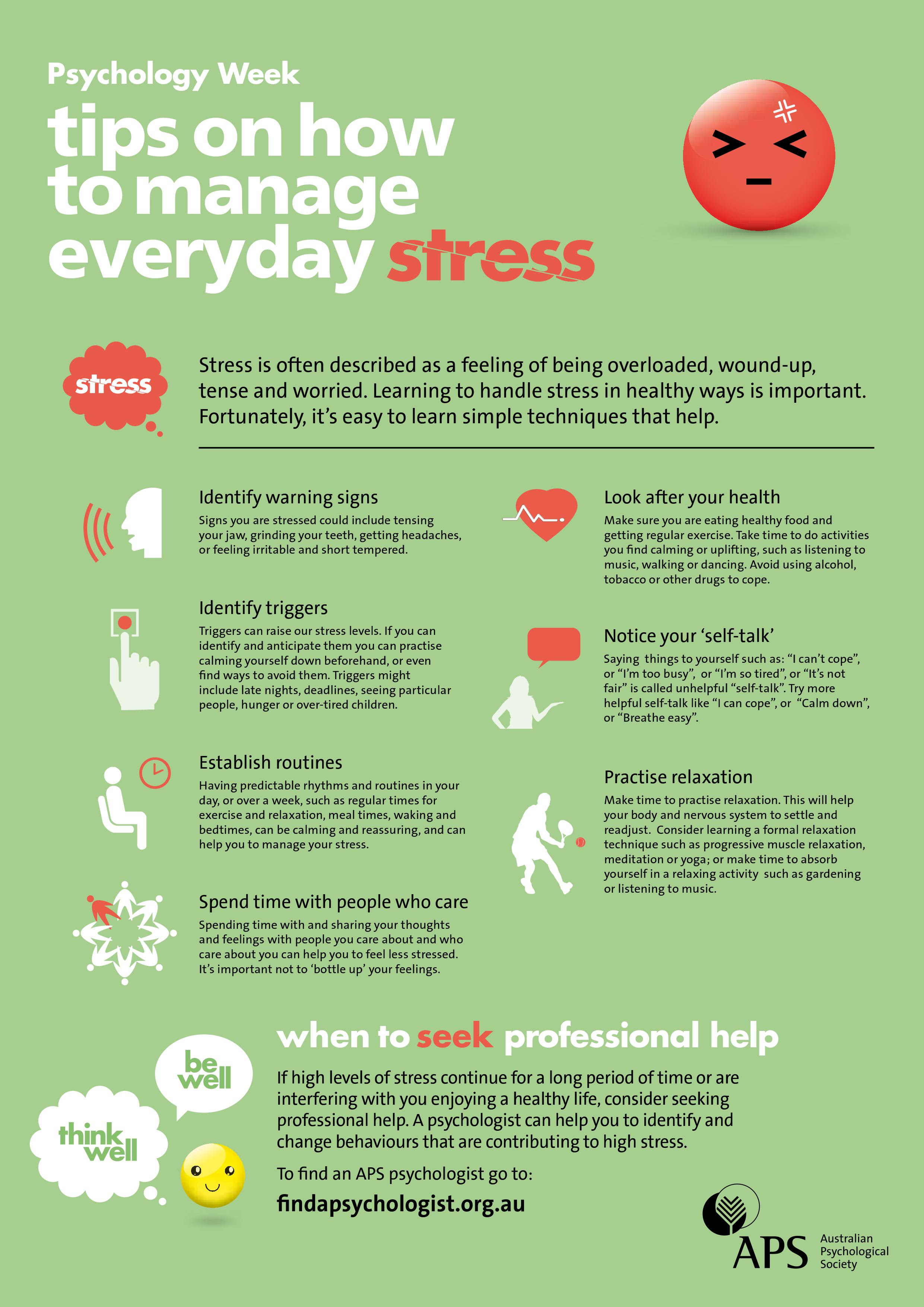 Tips for Managing Stress — Guidelight Psychology