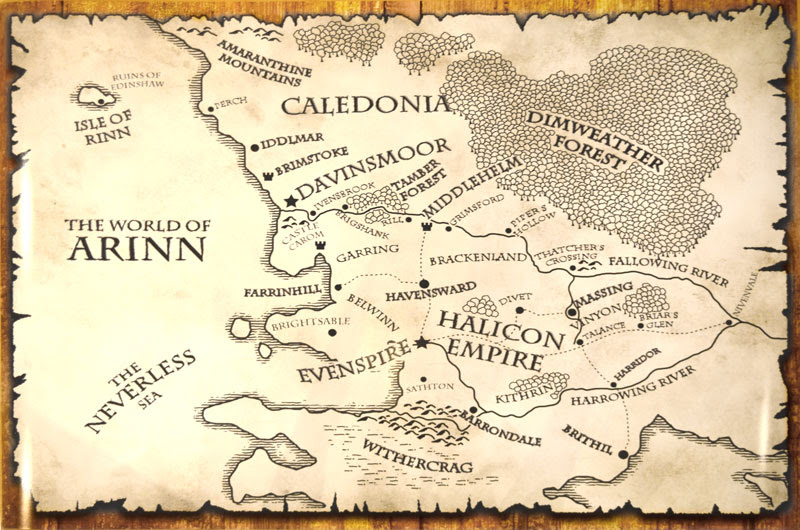 motley fantasy map poster world of arinn