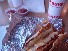 dinner at five guys
