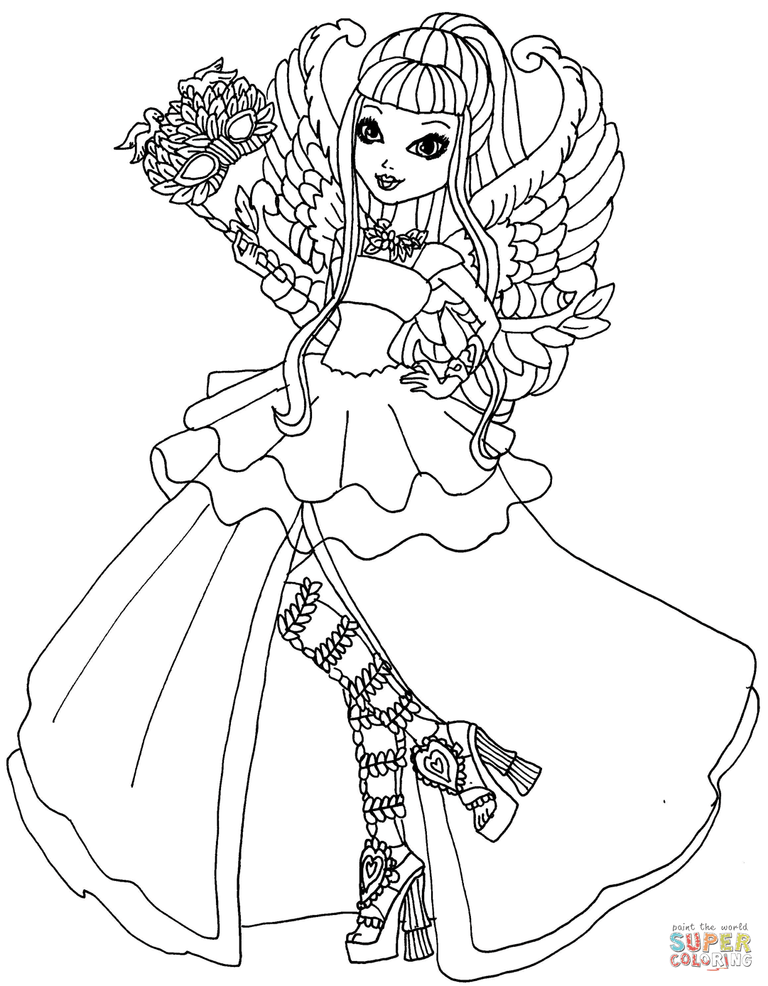 Ever After High Coloring Pages Free Coloring Pages
