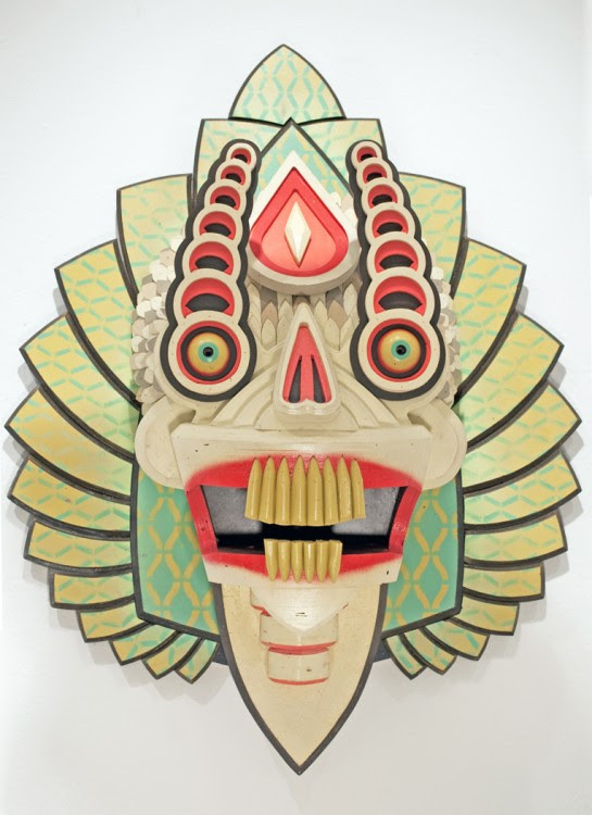 masque aj fossik 01 545x750 Les monstres en relief dAJ Fosik  art