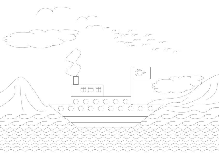 1 Sınıf çiz Boya Etkinlikleri Gemi Seyit Ahmet Uzun Eğitime