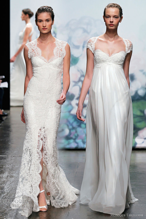 monique lhuillier fall 2012 wedding gowns Coquette reembroidered lace and