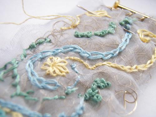 embroidered wire cuff
