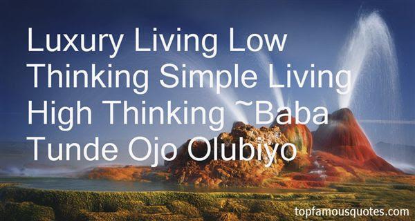 Simple Living High Thinking Short Essay Length