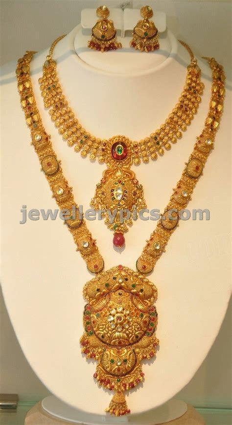 Khazana gold Haram   long necklace designs   Latest
