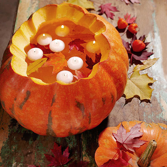 Pumpkin With Floating Candles Pictures, Photos, and Images ...