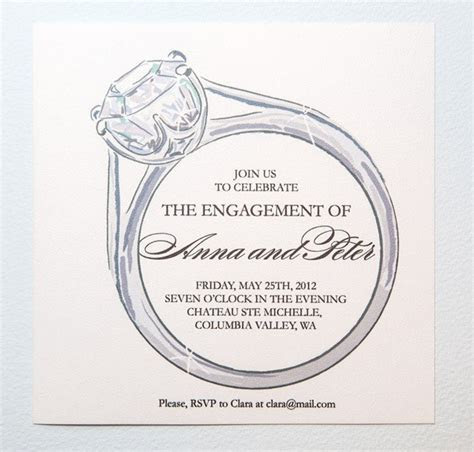 Printable Engagement Party Invitation by encrestudio on Etsy