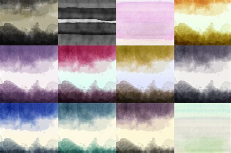 12 Watercolor Ombre Backgrounds ~ Textures on Creative Market
