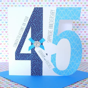 Lovely Personalised Handmade Sapphire 45th Wedding