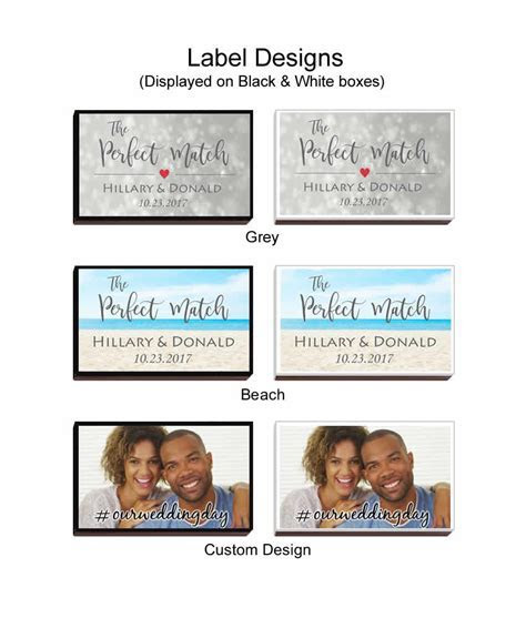 Wedding Favor Matches, Personalized Wedding Matches   FREE