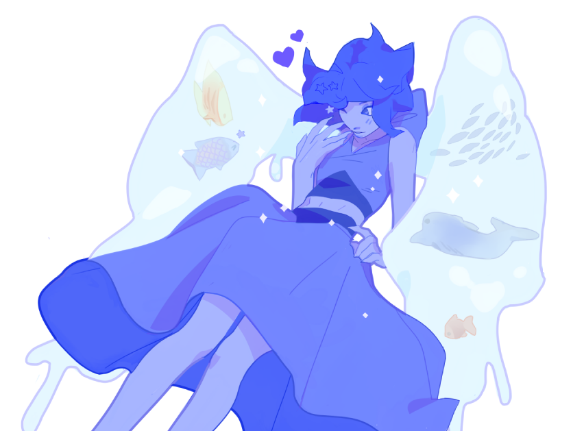 Anonymous said: How about Lapis with fish in her water wings? c: wink at the fishies