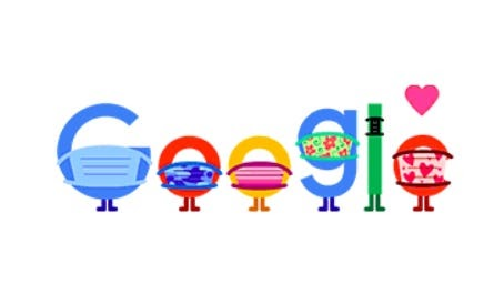 Google's latest Doodle encourages visitors to wear masks, socially distance