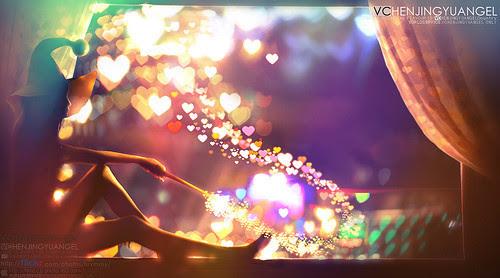 Love,lights,magic,colurful,girl,hearts-88d3b3579e3360468f228edf0841e07a_h_large
