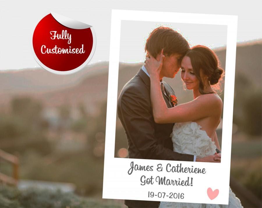 Custom Polaroid Instagram Photo Booth Frame Wedding Photo Frames