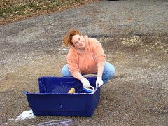 Me scrubbing carrier