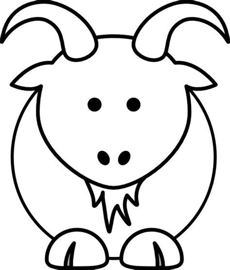 goat clip art animal coloring pages   applied