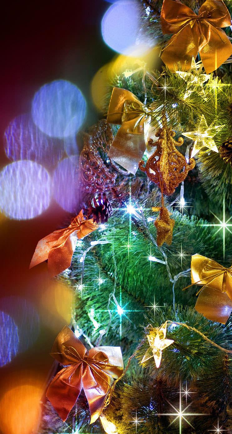 綺麗なクリスマスツリー Iphone5 スマホ用壁紙 Wallpaperbox