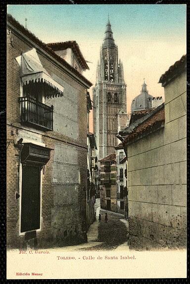 Calle de Santa Isabel a principios del siglo XX.