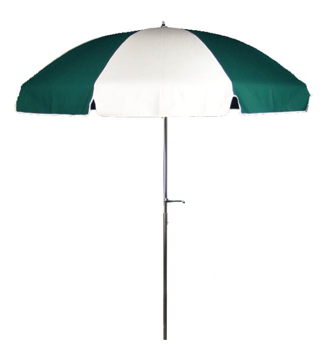 7 1/2' Diameter Patio Forest Green & White Commercial ...