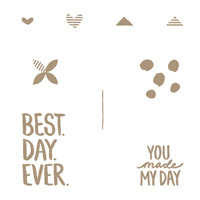 Best Day Ever Wood Stamp Set