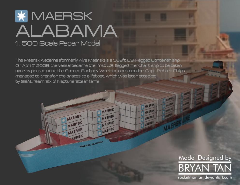 MV Maersk Alabama Papercraft