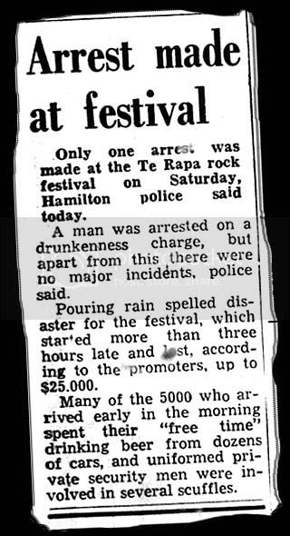 Te Rapa arrest large, Hamilton Times Monday 29th January 1973