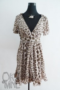 Waisted animal print dress