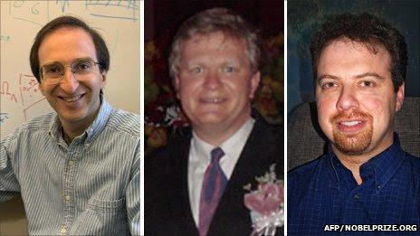 Nobel laureates Perlmutter, Schmidt, and Riess