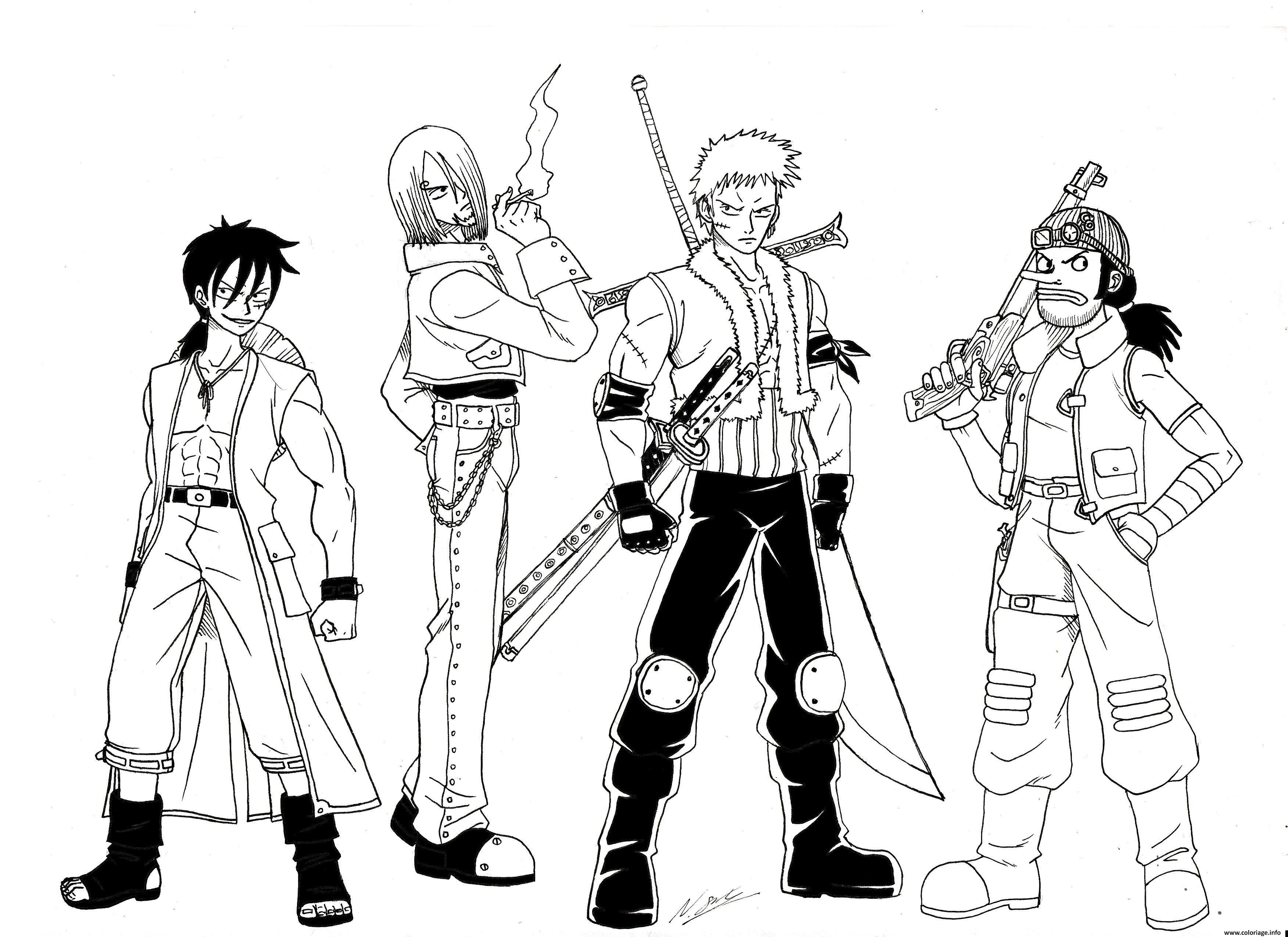 Coloriage Manga e Piece Brook Dessin  Imprimer