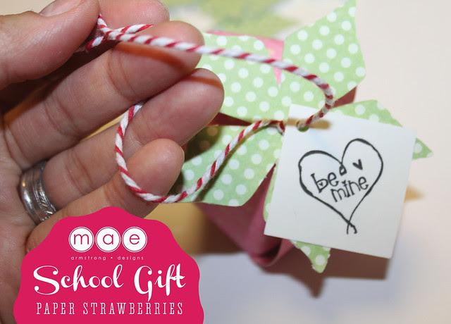 Paper Strawberries - School gift5