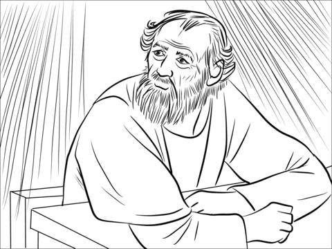 Dibujo De El Señor Llamado Ananias En Una Visión Para Colorear