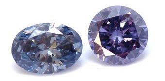 Diamantes Fancy violeta y azul de lujo