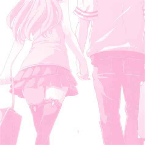 pink anime couple tumblr