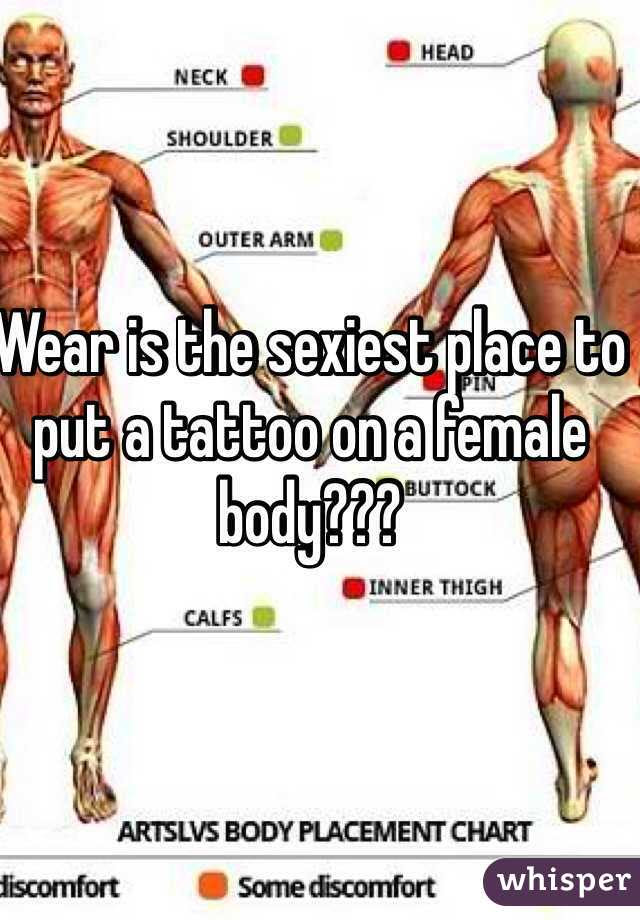 Wear Is The Sexiest Place To Put A Tattoo On A Female Body